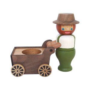 Gardener Pushing Cart